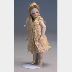 French Barefoot All Bisque Doll with Jointed Elbows