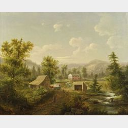 David Johnson (American, 1827-1908)  The Creek