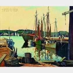Otis Pierce Cook (American, c. 1900-1980)    Harbor View
