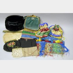 Group of Vintage Purses and a Wrap