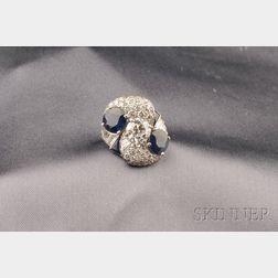 Platinum, Sapphire, and Diamond Ring, Raymond Yard