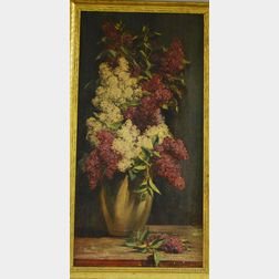 Frederick Mortimer Lamb (American, 1861-1936)      Lilacs in a Vase.
