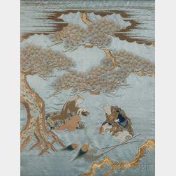 Fukusa   of Blue Satin