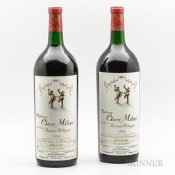 Chateau Clerc Milon 1985, 2 magnums