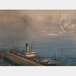 Charles Vezin (American, 1858-1942)      The East River