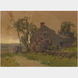 Hezekiah Anthony Dyer (American, 1872-1943)  Sunset at the Cottage