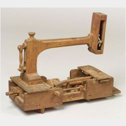 Wood Sewing Machine Model