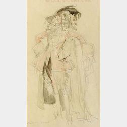 Everett Shinn (American, 1876-1953)  Lot of Six Costume Sketches