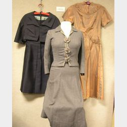 Twenty-two 1940s-1960s Women's Suits and Dresses