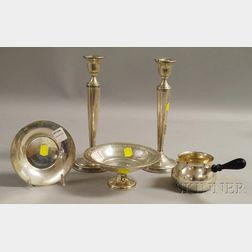 Five Sterling Tableware Items