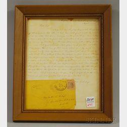 1864 Civil War Prisoner of War Confederate Soldier's Letter