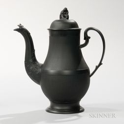Neale & Co. Black Basalt Coffeepot and Cover