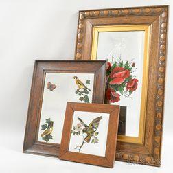 Three Oak-framed Mirrors