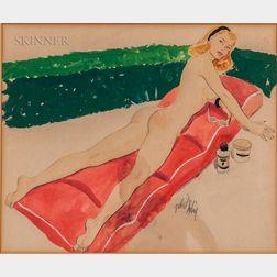 Gilbert Darling (American, 20th Century)    Bathing Beauty