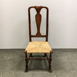 Queen Anne Maple Spanish-foot Side Chair