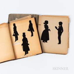 Two String-bound Scrapbooks Containing Silhouettes