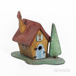 Elaborate Painted Birdhouse