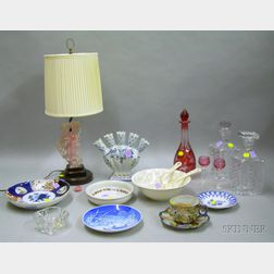 Group of Assorted Glass and Ceramic Articles