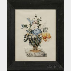 American School, 19th Century      Theorem of a Basket of Flowers.