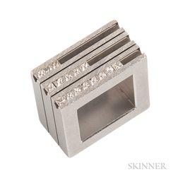 Stainless Steel and Diamond Ring, Yael Herman