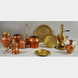 Group of Decorative Copper and Brass Metalware