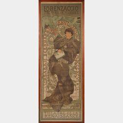 Mucha, Alphonse (1860-1939) Lorenzaccio Poster.