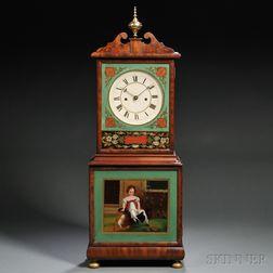 Joshua Wilder Mahogany Shelf Clock
