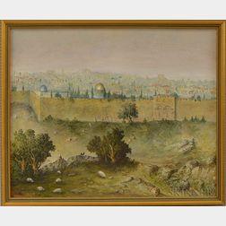 American/Israeli School, 20th Century      View of Jerusalem