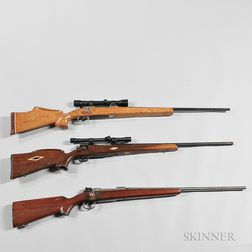 Three Sporterized Military Bolt-action Rifles