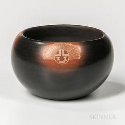 Contemporary Santa Clara Pottery Bowl