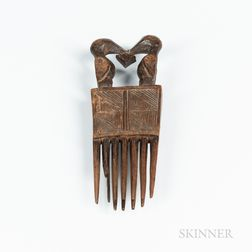 Wood Chokwe Comb