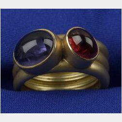 18kt Gold and Gem-set Ring