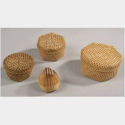 Four Small Shaker Baskets