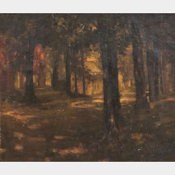 American School, 19th Century       Forest Sunset