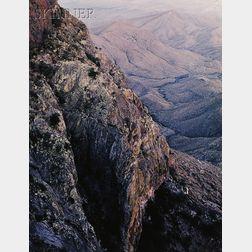 James Clinton Bones (American, b. 1943)      Twilight, South Rim Chisos Mountains, Texas