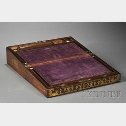 Mahogany Veneered and Brass-inlaid Lap Desk