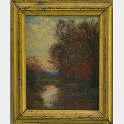 William Merritt Post (American, 1856-1935)      The Mill Pond