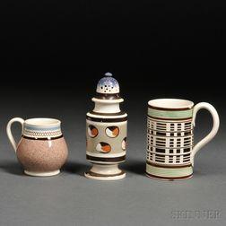 Three Small Mochaware Items