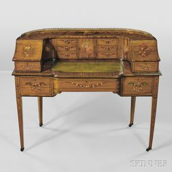 Late Victorian Regency-style Carlton House Desk