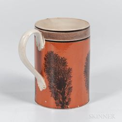 "Mocha ""Tree""-decorated Quart Mug"