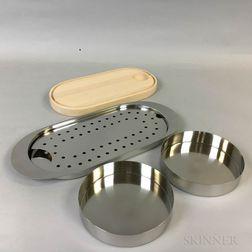 Arne Jacobsen (Danish, 1902-1971) Designed Serving Items and Various Scandinavian Flatware