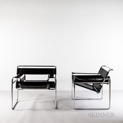 Two Marcel Breuer for Knoll International Wassily Chairs
