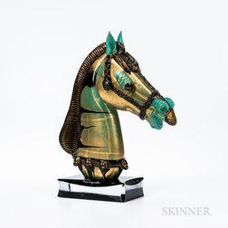 Pino Signoretto (Italian, b. 1944) Horse Head Art Glass Sculpture