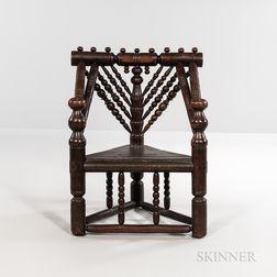 Oak Spindle-back Armchair