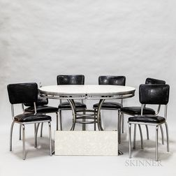 Chrome and Formica Kitchen Table and Chairs