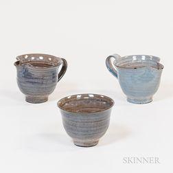 Three Pieces of Scheier Pottery Tableware