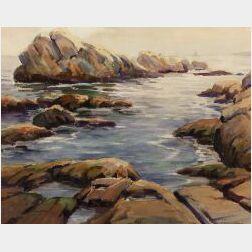 Charles Gordon Harris (American, b. 1891)  Rocky Coast
