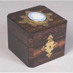 Jasper Mounted Calamander Four-Bottle Scent Box