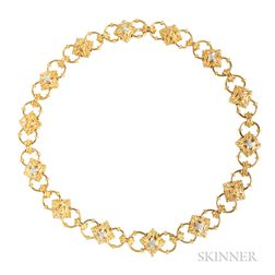 18kt Gold and Diamond Chain