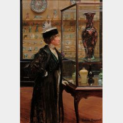 Matilda Auchincloss Brownell (American, 1871-1966)      Girl in the Chinese Porcelain Room